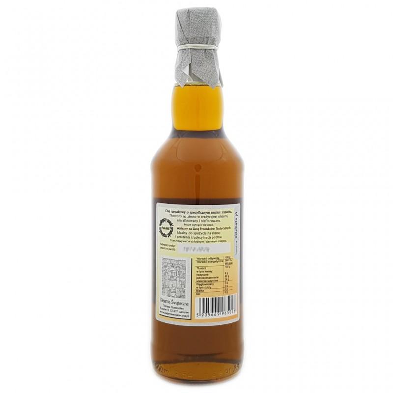 olej świąteczny roztoczański 500 ml bity tradycyjnie