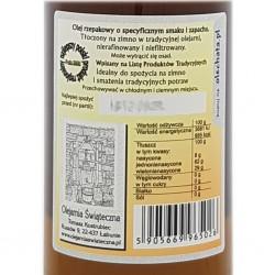 olej świąteczny roztoczański 500 ml bity tradycyjnie 2